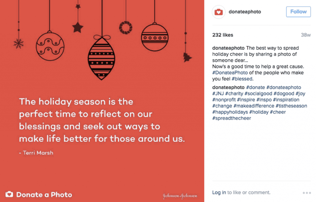 Instagram Christmas example post marketing strategies holiday guide 2020 creative marketing agency nyc