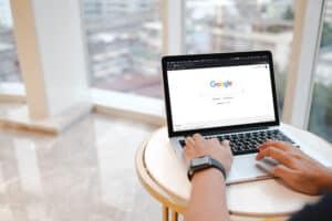 Individual Using Google