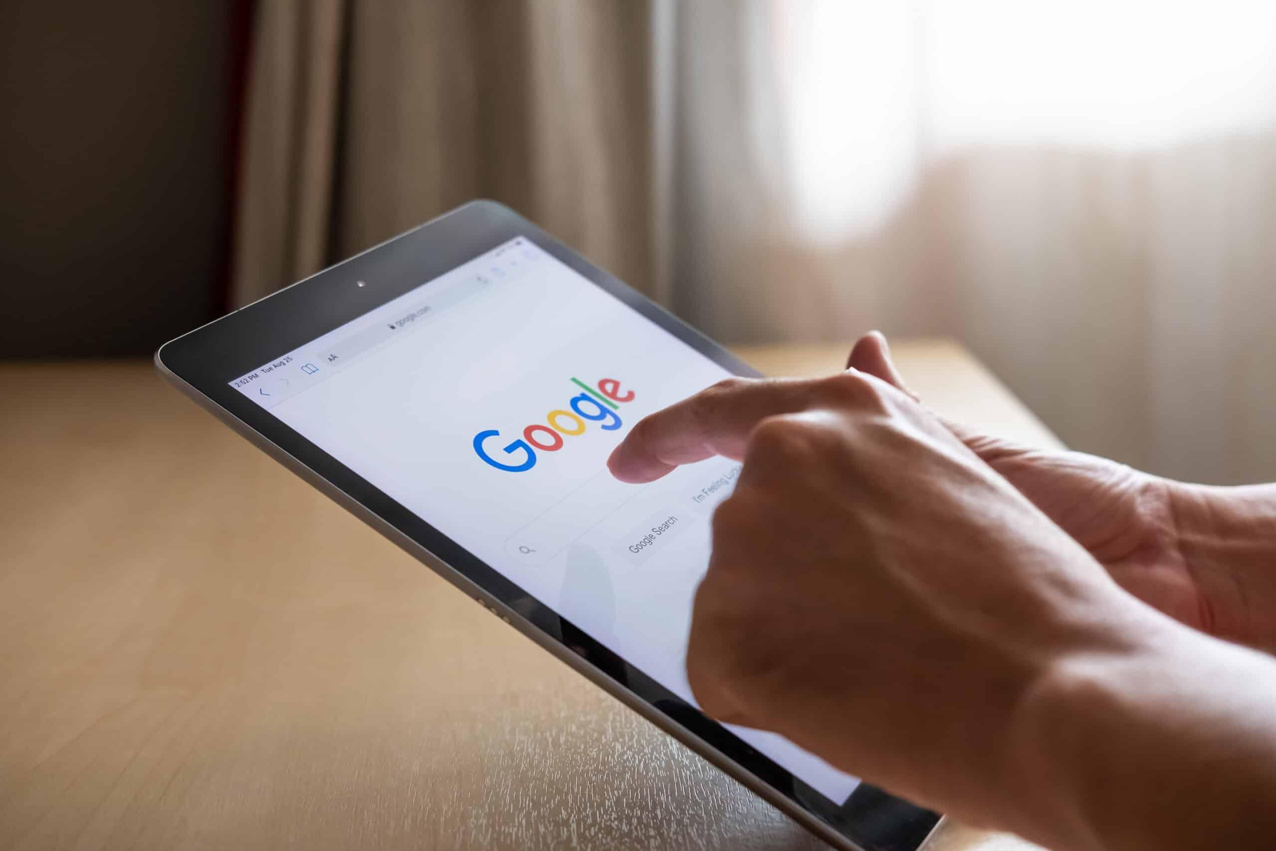 iPad User searching on Google